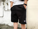 IMPACT Adidas 3-Stripes Shorts 黑 白 三線 三葉草 短褲 運動 棉質 拉鍊 DH5798
