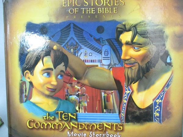 【書寶二手書T7/百科全書_QDG】The Ten Commandments Movie Storybook_Naha,