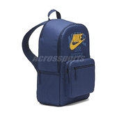 Nike 包包 Heritage 男女款 藍 後背包 雙肩背 大容量 收納 夾層 筆電【ACS】 DJ7373-410