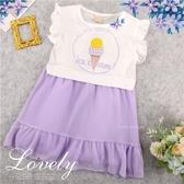 夢幻甜美冰淇淋棉質短袖洋裝(290154)【水娃娃時尚童裝】