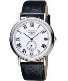 LONGINES 浪琴 Presence 經典小秒針機械腕錶/手錶-白/38.5mm L48054112