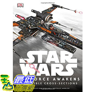 [美國直購] 美國暢銷書 星際大戰 Star Wars: The Force Awakens Incredible Cross-Sections