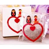 ╭*幸福朵朵*╯【永結同心茶包組X基本100份】-迎賓禮/送客禮/伴手禮/贈品/二次進場/婚禮小物