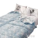 全棉毛巾被純棉雙層紗布被兒童午睡毯學生單人家用YYP 蓓娜衣都