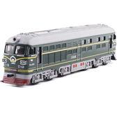 彩珀大號東風火車1:65內燃機4B懷舊綠皮火車頭聲光回力模型玩具WY【夏日清涼好康購】
