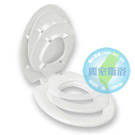 【麗室衛浴】加長型子母式馬桶蓋 一體兩用設計 安裝簡易  大人小孩都適用 A-485-1