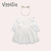 凡獵女童連衣裙秋冬裝小女孩嬰兒公主洋氣裙子滿月寶寶一周歲禮服 怦然心動
