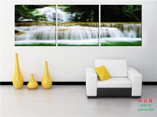 現代裝飾畫壁畫無框畫現代裝飾畫版畫 瀑布風景(W145)