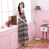 【RED HOUSE-蕾赫斯】滿版花朵雪紡長洋裝-網路獨家款(共3色)