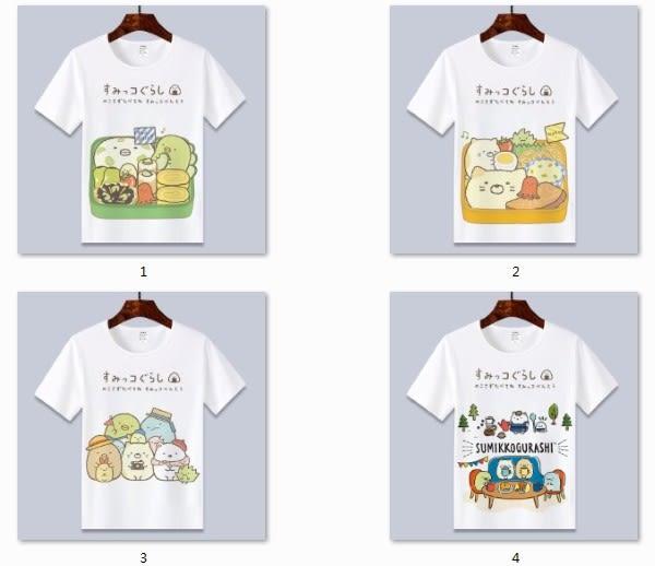 現貨 T恤 角落生物T恤可愛貓咪白熊企鵝炸豬排二次元動漫周邊短袖衣服童裝 親子裝 情侶裝
