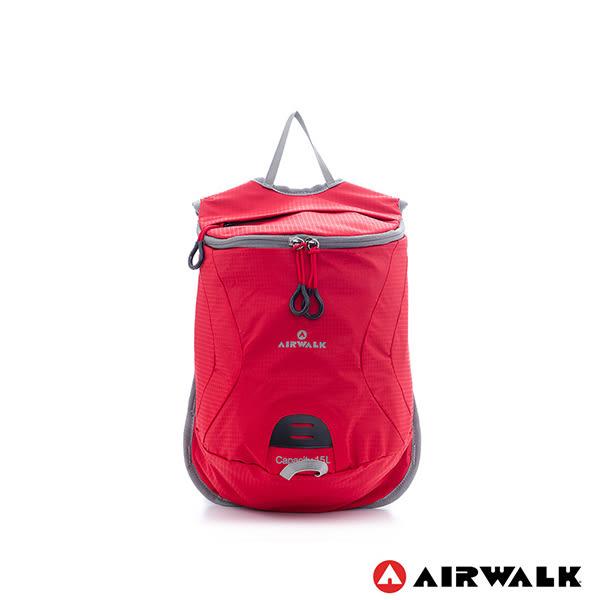 美國 AIRWALK 美麗的日子 圓桶隨行輕量春捲小後背包-日日紅
