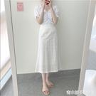 夏年新款女裝胖mm時尚顯瘦氣質半身洋裝子...