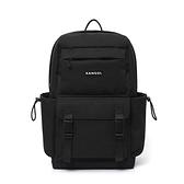 KANGOL 黑色大容量後背包-NO.6055320320