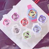 手錶男女學生韓版簡約時尚潮流 ulzzang休閒大氣電子表運動防水白 週年慶降價