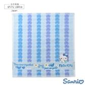 日本毛巾-Sanrio三麗鷗小方巾-Kitty藍-玄衣美舖