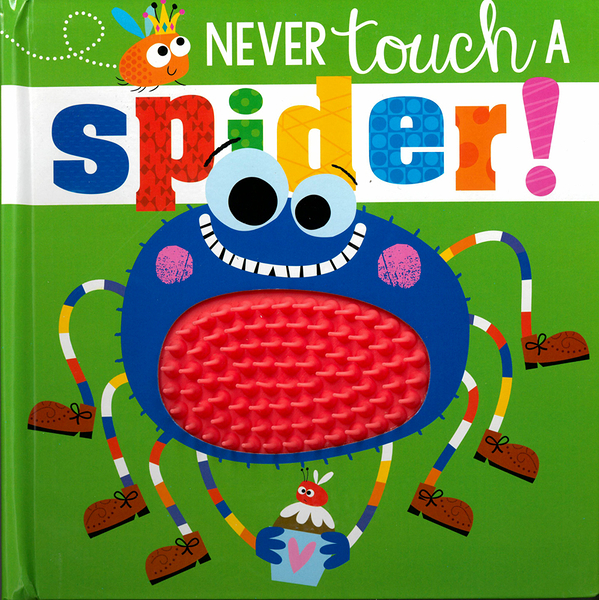 【幼兒觸摸感官書】NEVER TOUCH A SPIDER /觸摸書《主題:蜘蛛》