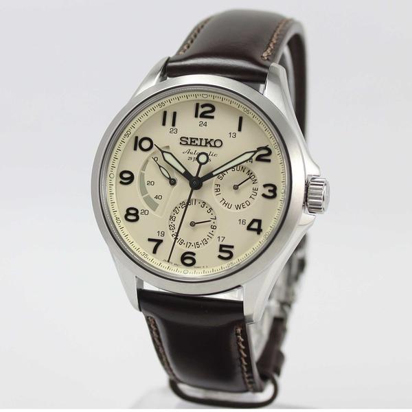 【萬年鐘錶】SEIKO PRESAGE 精工6R21 29石 都會機械錶 透明底蓋 銀x米白 40mm 6R21-01A0P (SARW017J)