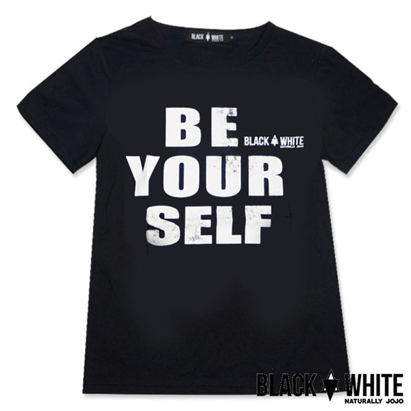 Black & White Voice T-shirt-為己而活(Black)
