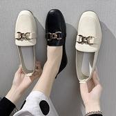 樂福鞋 英倫小皮鞋女黑色春秋平底單鞋2021新款網紅豆豆鞋一腳蹬樂福鞋女 伊蘿