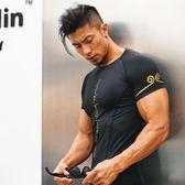 運動套裝-健身衣服套裝運動t恤肌肉背心緊身衣男士兄弟高彈訓練速干衣短袖花間公主
