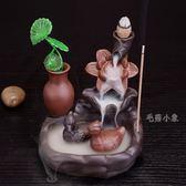 陶瓷倒流香爐創意 情人節禮物 居室動物茶道擺件 DA3565『毛菇小象』