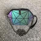女包包新款貝殼包幾何菱格夜光半圓錬條側背包手機包迷你小包 可然精品