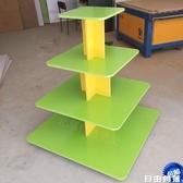 木制方形堆頭中島櫃母嬰展示櫃促銷架禮品櫃產品展櫃貨架童鞋展架CY 自由角落