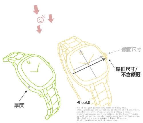 Loang Dan 簡約雕花時尚手鍊女錶 防水手錶 石英錶 數字錶 珍珠螺貝錶盤 玫瑰金x粉 LD-93095-9GL玫粉