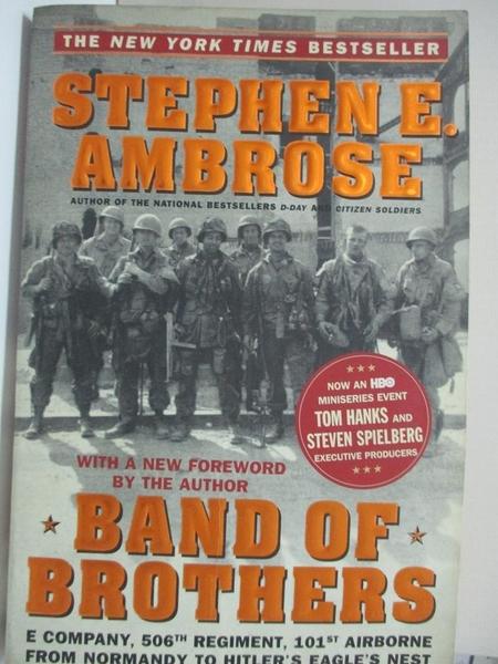 【書寶二手書T1/軍事_EJV】Band of Brothers : E Company, 506th Regiment, 101st…