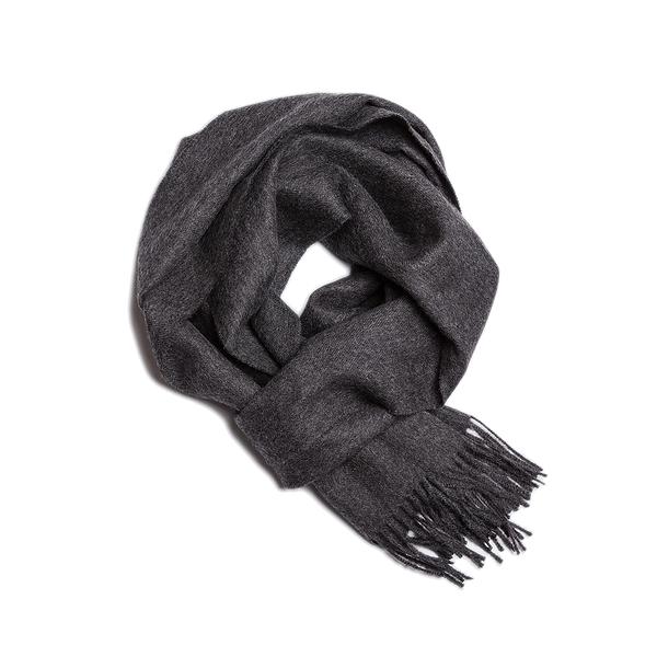 Alpaka Scarf Exclusive 100% 30x200cm 極致系列 素面單色 羊駝毛 超輕量 圍巾(深色木炭)