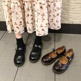 森女系小皮鞋女復古瑪麗珍鞋一字扣軟底溫柔風晚晚鞋平底