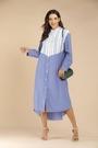 襯衫洋裝 歐美洋裝 女裝秋裝新款休閑拼接襯衫女長袖襯衣連身裙