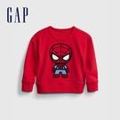 Gap男幼童 Gap x Marvel 漫威系列植絨休閒上衣 862713-紅色