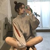 運動外套 超火cec外套女加絨加厚2021新款韓版ins學生寬鬆運動休閒開衫上衣 童趣屋  新品