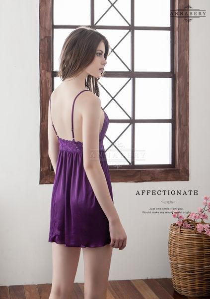 (特價) 大尺碼 Annabery紫羅蘭魅惑柔緞睡衣 (OS小舖)