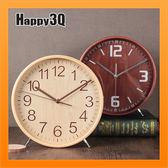 鬧鐘擺鐘復古造型簡約時鐘鐘錶客廳現代簡約羅馬數字時鐘-木/藍/白【AAA3514】預購