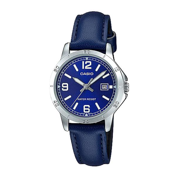 CASIO 卡西歐 手錶專賣店 LTP-V004L-2B UDF 女錶 指針錶 礦物玻璃鏡面 防水 皮革錶帶