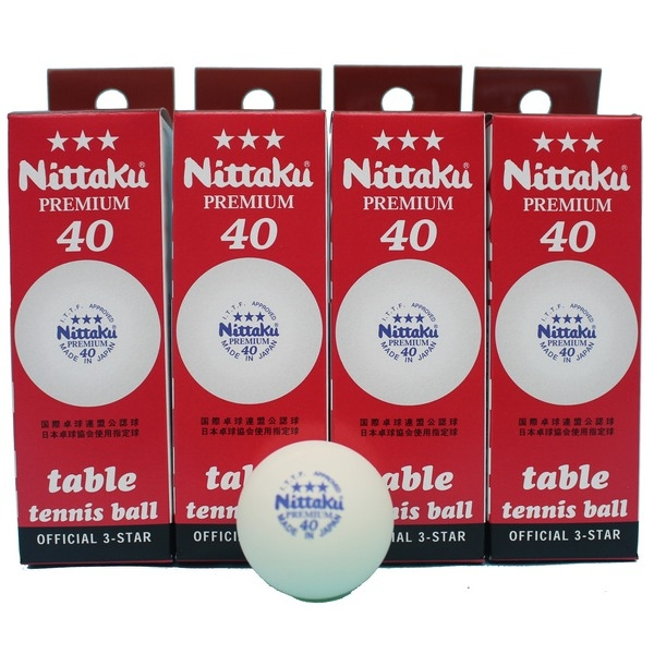 Nittaku 乒乓球 40 白色 桌球 40mm(日本廠製)/一小盒3個入{特238} TAITUN 日本 ITTF公認三星比賽用桌球-泉