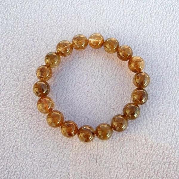 【歡喜心珠寶】【天然巴西維納斯紅鈦晶圓珠11mm手鍊】18顆.重35.5g「附保証書」招正財寶石