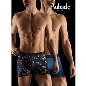 Aubade man-壞男人M-XL舒棉平口褲(夜曲2件組)