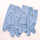 兒童防蚊褲夏季薄款刺繡束腳褲男女童3-5-8歲4寶寶燈籠長褲子夏裝 青木鋪子