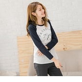 《AB5086》台灣製造.萌系貓咪燙印圖撞色高棉T恤/上衣--適 XL~5L OrangeBear
