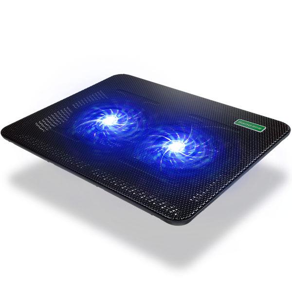 綠巨能 筆記本電腦散熱器14寸 散熱底座 散熱支架 雙風扇散熱器