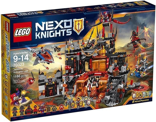 LEGO 樂高 Nexo Knights 70323 Jestro s Volcano Lair Building Kit(1186 Piece)