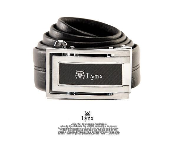 Lynx - 山貓城市系列U型款自動扣真皮皮帶