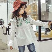 黑五好物節 女童襯衣秋裝2018新款韓版兒童春秋季洋氣襯衫小女孩時髦上衣童裝【名谷小屋】