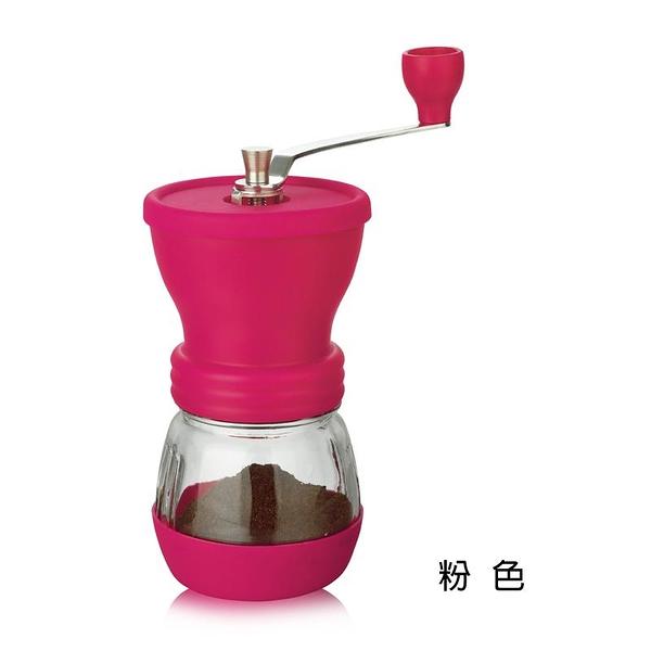金時代書香咖啡 AKIRA 密封罐式手搖磨豆機 粉色 GCM-1-PI