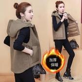 2020秋冬新款韓版女士馬甲背心女馬甲外套女冬夾棉加厚羊羔絨 【快速出貨】