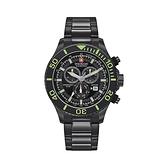 SWISS MILITARY HANOWA】IMMERSION瑞士錶個性三眼計時錶-螢黑款/SM14221XSB.H02MS/台灣總代理公司貨兩年保固