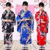 中大尺碼女童和服 日本兒童復古六一兒童節學生合唱演出舞蹈表演日式服 DR22856【Rose中大尺碼】